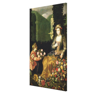 Offering to Flora, 1627 (oil on canvas) Canvas Print
