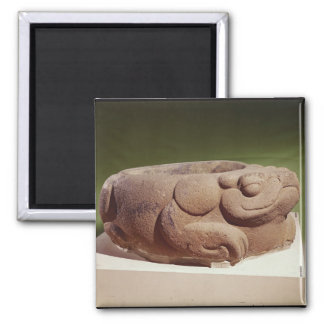 Offering vessel in the form of a giant toad, square magnet