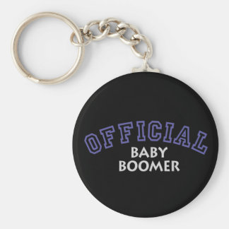 Offical Baby Boomer - Blue Basic Round Button Key Ring