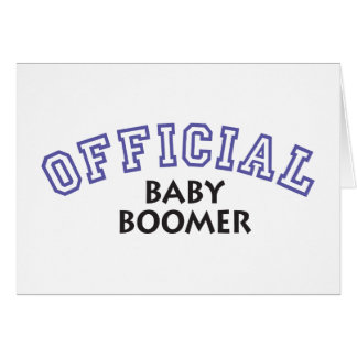 Offical Baby Boomer - Blue Greeting Cards