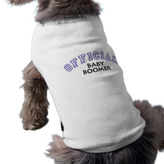 Offical Baby Boomer - Blue Pet Tee