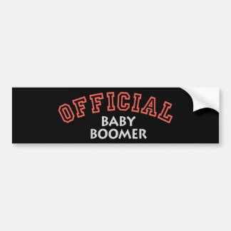 Offical Baby Boomer - Red Bumper Sticker