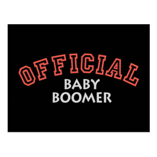 Offical Baby Boomer - Red Post Card