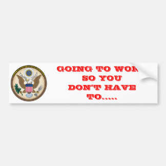 OFFICAL US TAX PAYER BUMPER STICKERS