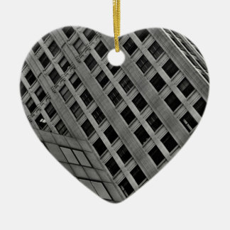 Office architecture on the diagonal ceramic heart decoration