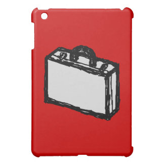 Office Brief or Travel Suitcase. Sketch on Red Case For The iPad Mini