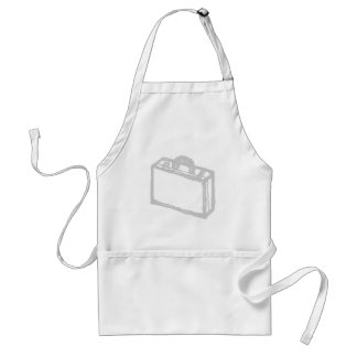 Office Briefcase or Travellers Suitcase. Sketch. Standard Apron