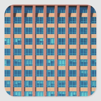 Office Building Windows Square Sticker
