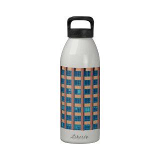 Office Building Windows Water Bottles