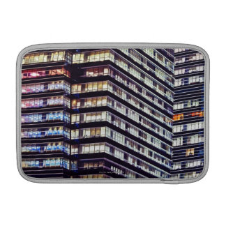 Office buildings at night, Singapore Sleeve For MacBook Air