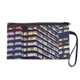 Office buildings at night, Singapore Wristlet