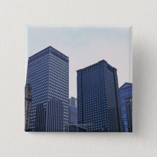 Office buildings in downtown Chicago, Illinois 15 Cm Square Badge