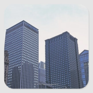 Office buildings in downtown Chicago, Illinois Square Sticker