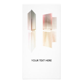 Office buildings photo greeting card