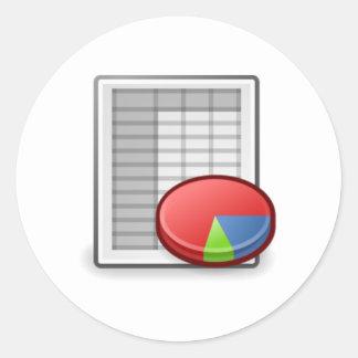 Office Chart Round Sticker