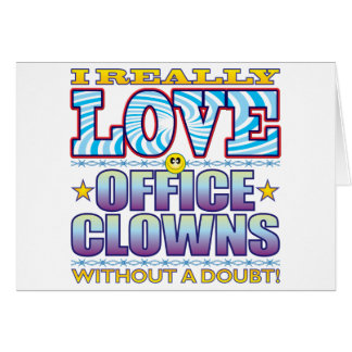 Office Clowns Love Face Greeting Card