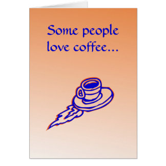 Office Coffee Greeting Card