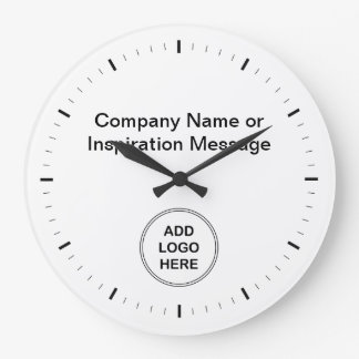 Office Company Logo Clocks