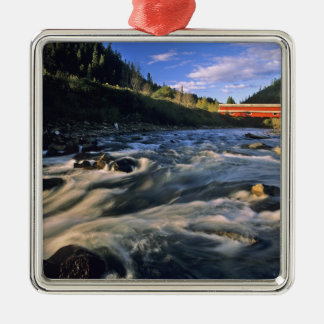 Office Covered Bridge the longest in Oregon at Christmas Ornament