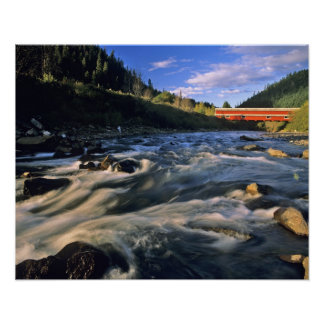 Office Covered Bridge the longest in Oregon at Poster