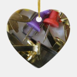 Office equipment ceramic heart decoration
