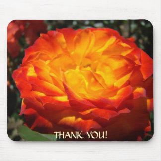 OFFICE GIFT Mousepad Orange Rose Presents