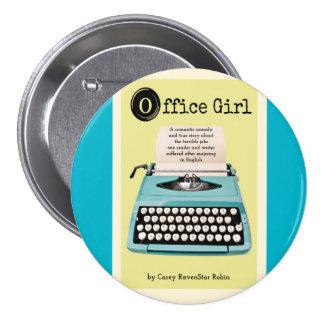 Office Girl Button