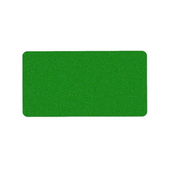 Office Green Star Dust Address Label