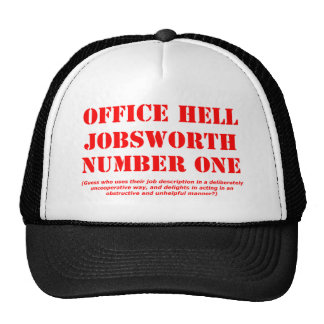 Office Hell Jobsworth Number One Cap