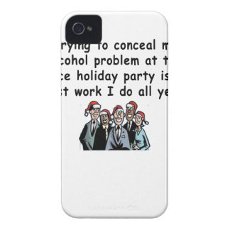 Office Holiday Party Humor iPhone 4 Case-Mate Case
