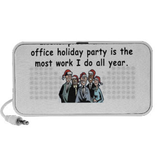 Office Holiday Party Humor Notebook Speakers