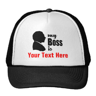 """Office Humor Funny Personalized """"My Boss"""" Hat"""