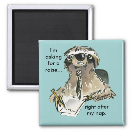 Office Humor Sloth Cartoon Magnet