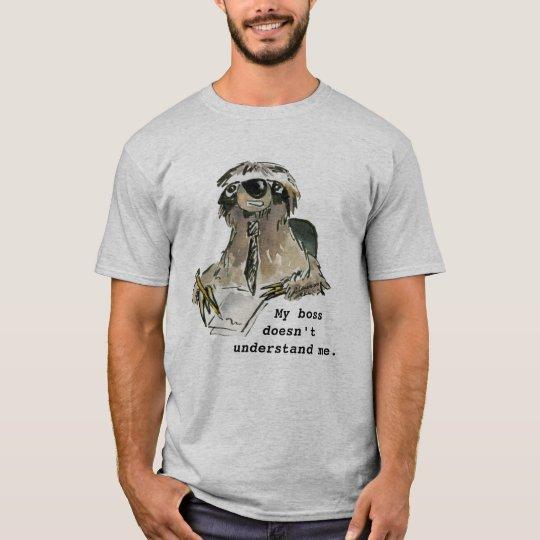 Office Humour Cartoon Sloth T Shirt
