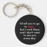 office  humour keychain