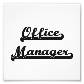 Office Manager Classic Job Design Photo Print