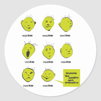 office meeting round stickers