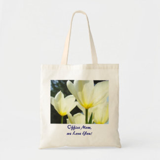 Office Mom We Love You tote bag gifts Tulips