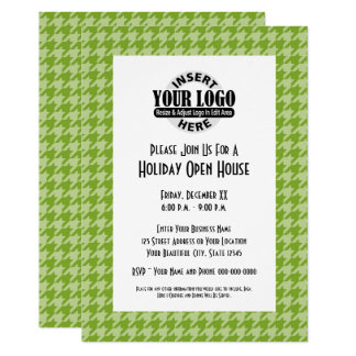 Office Party with Company Logo Card