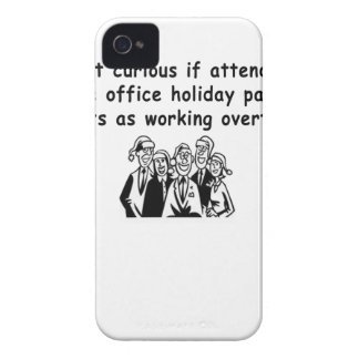 Office Party working overtime iPhone 4 Case-Mate Case