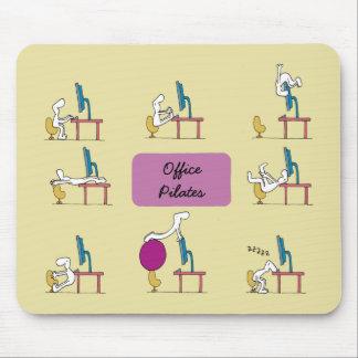 Office Pilates mousemat, yellow Mousepads
