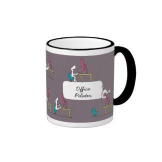 Office Pilates Mug, brown Ringer Mug