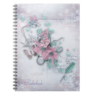 Office - Pretty Spring Florals (2) - Personalize Spiral Notebook