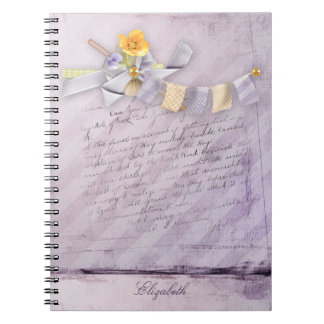 Office - Pretty Spring Florals - Personalize Spiral Notebook