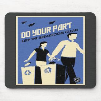 Office Propaganda: Breakroom (blue) Mousepads