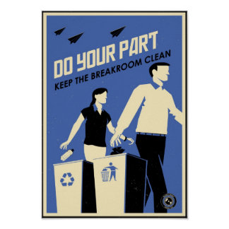Office Propaganda: Breakroom (blue) Poster