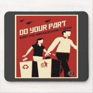 Office Propaganda: Breakroom Mouse Pads