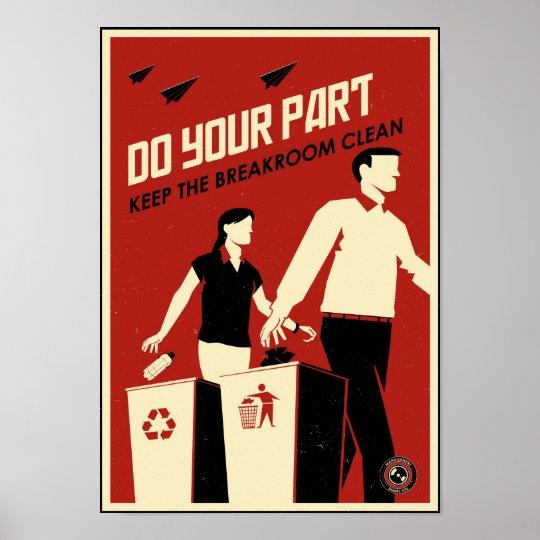 Office Propaganda: Breakroom Poster
