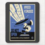 Office Propaganda: Downloads (blue) Mouse Pad