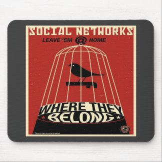 Office Propaganda: Social Network Mouse Pads